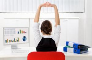 stretching at your desk can be beneficial to health