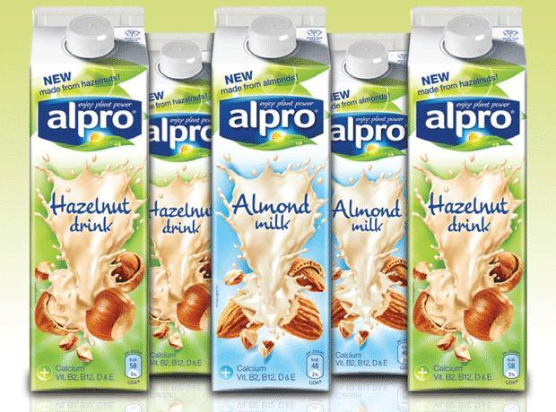 alpro hazelnut and almond milk
