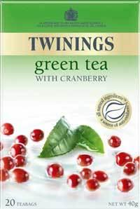 munch recommends Twining's Green Tea with Cranberry