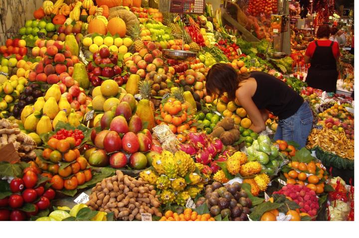Visit your local market or greengrocers for fruit and vegetables