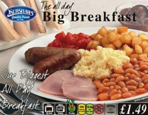 Kershaw's All Day Big Breakfast claims to contain one of your five-a-day