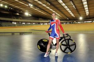 Victoria Pendleton is a track cyclist for Team GB