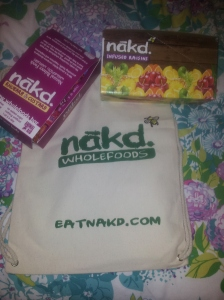 My Nakd goodie bag