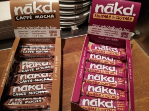 The new Nakd flavours - Caffe Mocha and Ruhybarb & Custard